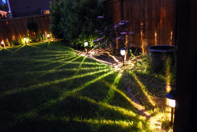 New Backyard Lights The Espinoza