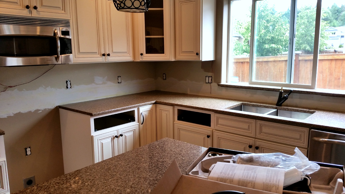New kitchen counter - installed June 18, 2015